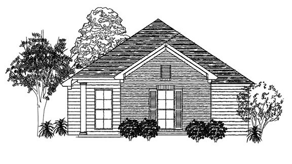 cahaba new home floor plan - outside view