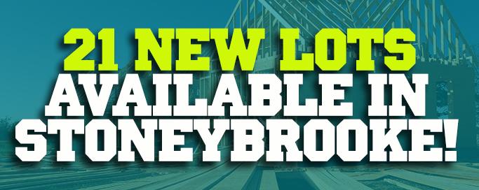 21 New Lots in StoneyBrooke