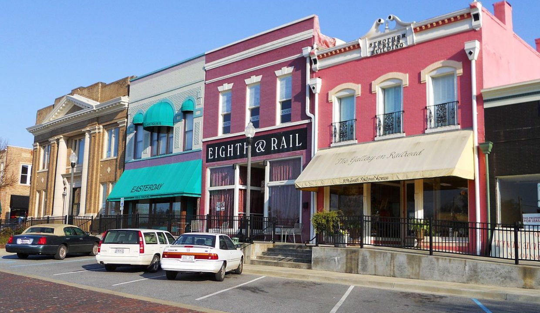 Historic downtown in Opelika, Alabama